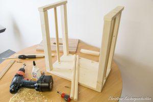DIY Learning Tower im Entstehen