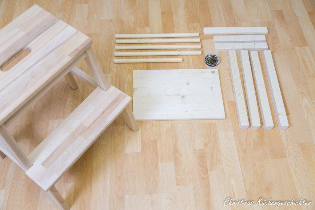 Einkaufsliste für den DIY Lernturm mit Ikea Komponente
